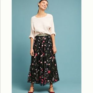 Anthropologie Corali Tulle Maxi Skirt